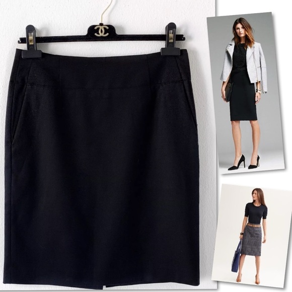 Banana Republic Dresses & Skirts - BANANA REPUBLIC  WOOL BLACK SUIT SKIRT SZ 2